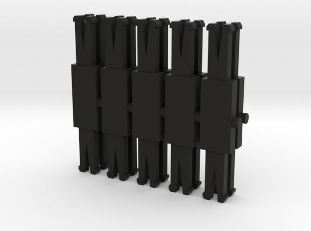 10 Barres d'attelage Jouef Dev A0  in Black Natural Versatile Plastic