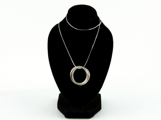 6-Ring Roller Ring in Interlocking Polished Silver