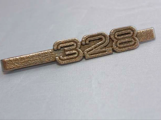 TIE CLIP 328 LOGO 3d printed Tie clip with 328 logo on stainless