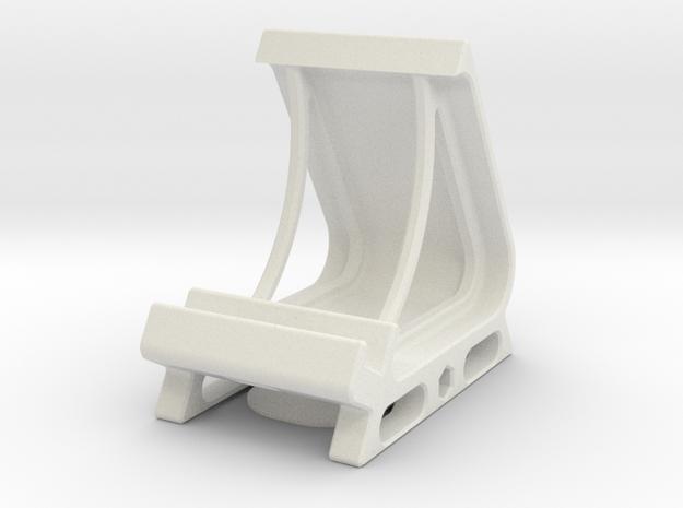 Desktop Smart Phone Station in White Natural Versatile Plastic