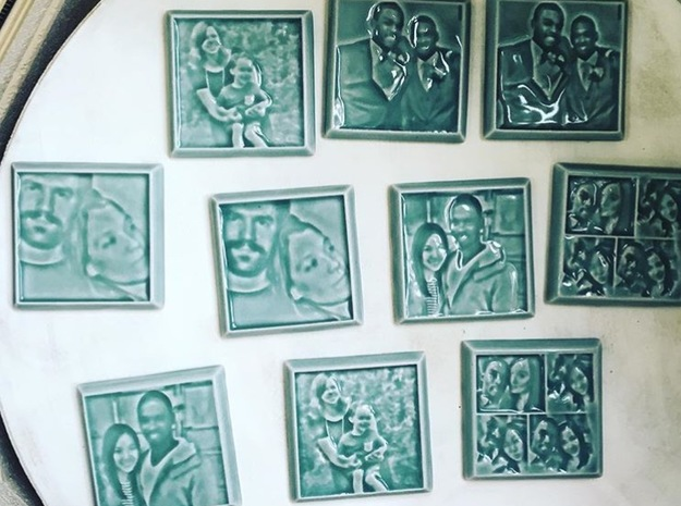 Celadon Selfie 4x4 Tile in Gloss Celadon Green Porcelain