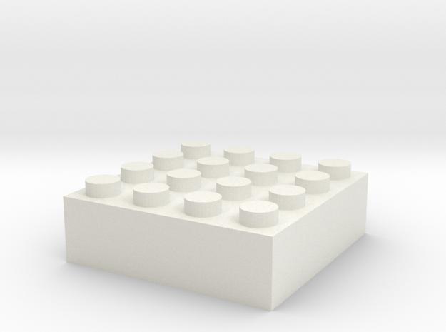Block 4x4 in White Natural Versatile Plastic
