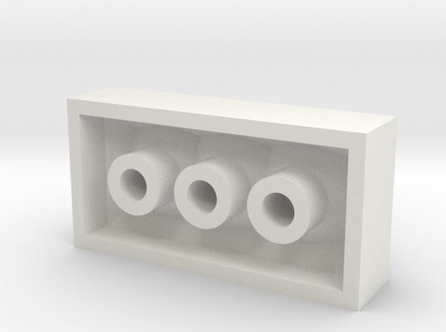 4x2brick in White Natural Versatile Plastic