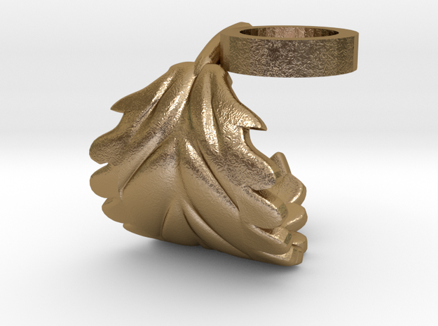FLEURISSANT - Leaf ring #1 in Polished Gold Steel