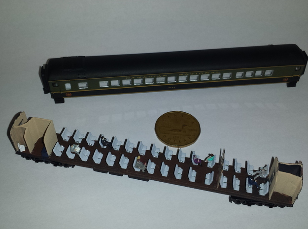 CNR PB-74-F Balloon Top Coach N Scale Assembly in Smoothest Fine Detail Plastic