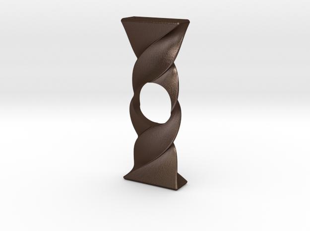 Twist Spinner in Matte Bronze Steel