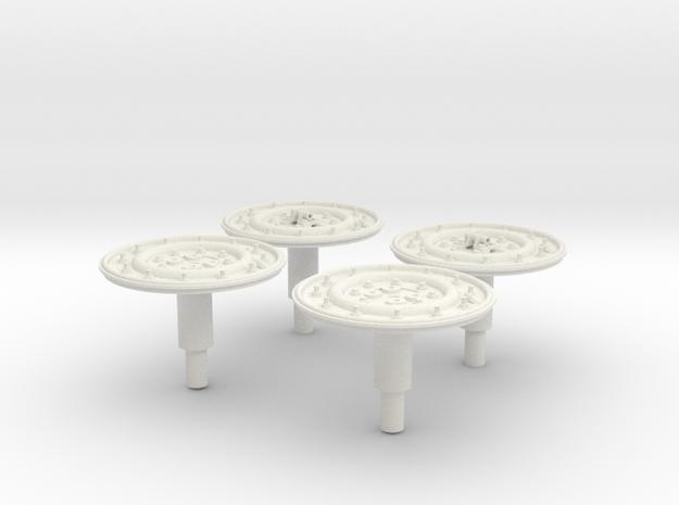 1:6 scale Hasbro HMMWV Wheel Outer Rim in White Natural Versatile Plastic