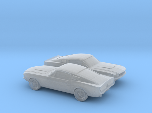 1/160 2X 1966 Ford Mustang in Smooth Fine Detail Plastic