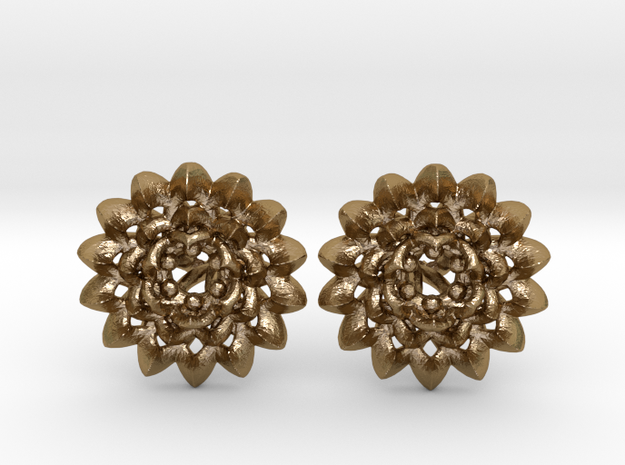 Plugs The Chrysanthemum / gauge / size 6G (4mm) in Polished Gold Steel