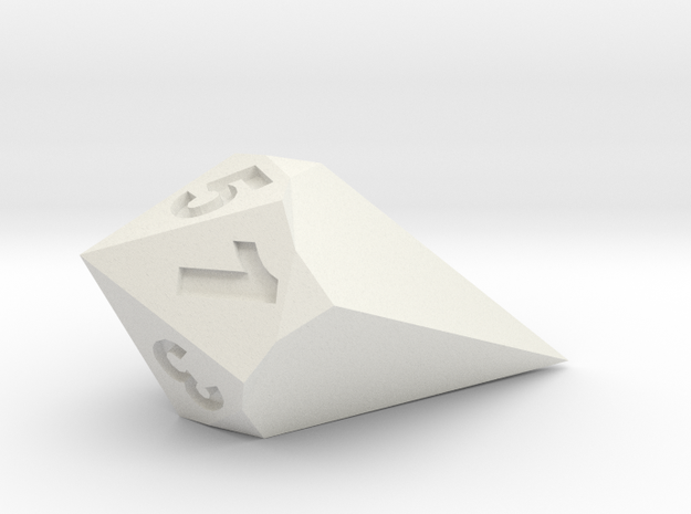 d5 Shard in White Natural Versatile Plastic