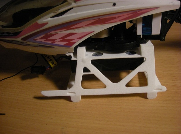 Hirobo Quark SG DIY undercarriage and battery hold 3d printed