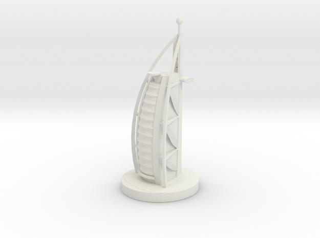Chess Knight_Dubai in White Natural Versatile Plastic