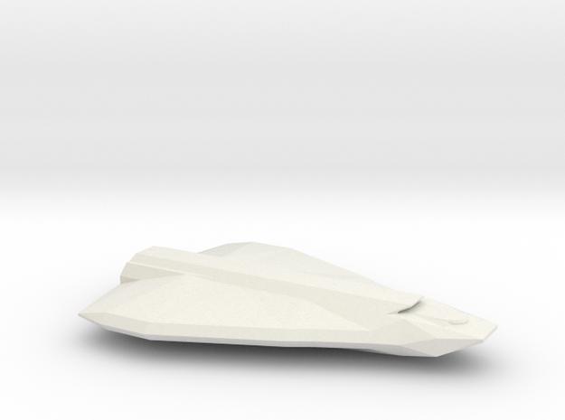 Gargantua-Class Shuttlecraft in White Natural Versatile Plastic
