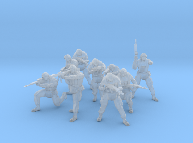 Modern Russian Motorized Rifle Squad 1:100 in Frosted Ultra Detail