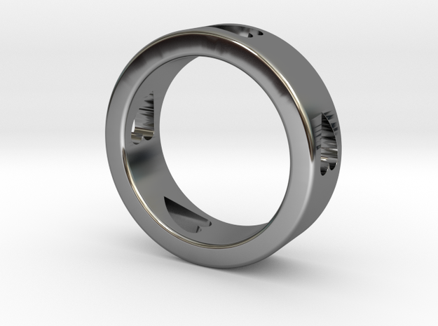 LOVE RING Size-13 in Fine Detail Polished Silver
