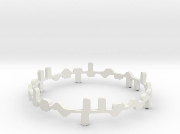 Bracelet Norma x2 in White Natural Versatile Plastic