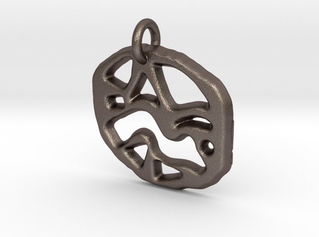 abstract shapes in Polished Bronzed Silver Steel