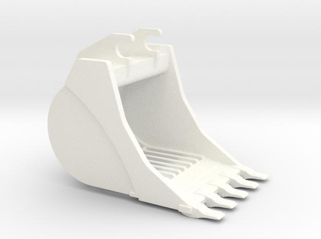 336 E Skeleton Bucket in White Strong & Flexible Polished
