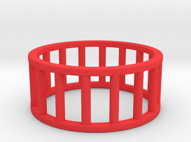 Albaro Ring- Size- 10 in Red Processed Versatile Plastic