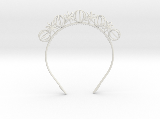 Sphere headband in White Natural Versatile Plastic