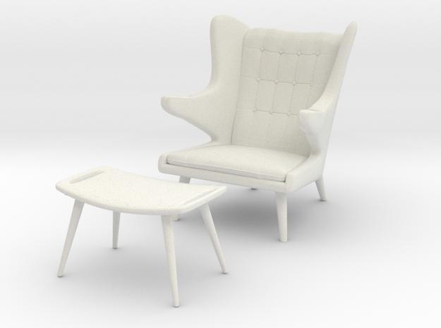 Wegner AP-19 Chair w/ Ottoman aka Papa Bear