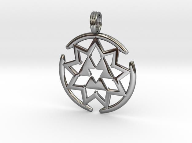 MAGNEVORTEX in Fine Detail Polished Silver