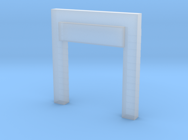 'N Scale' - 8' w x10' h Open Dock Door And Seal in Smooth Fine Detail Plastic