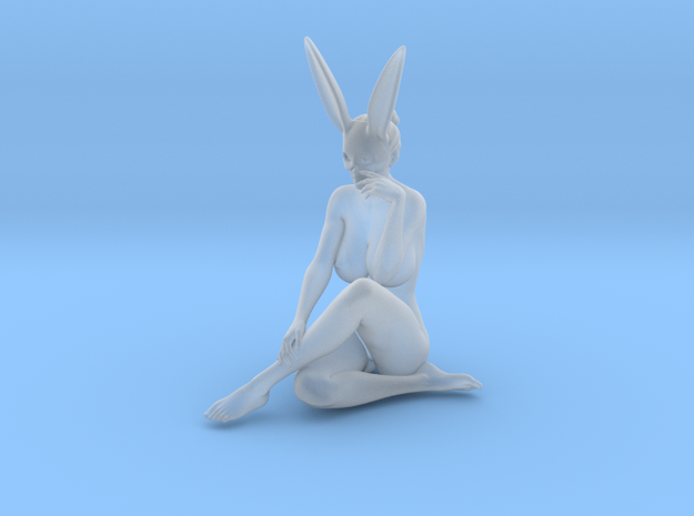 Bunny lady 010 1/24 in Smooth Fine Detail Plastic