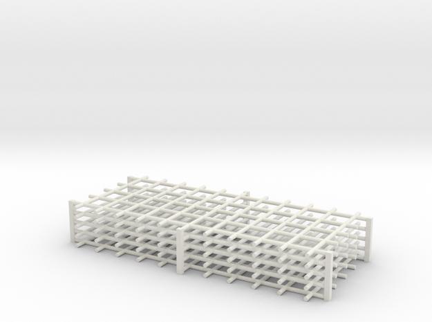 Rebar Grid 4 Feet x 10 Feet 1-87 HO Scale  in White Natural Versatile Plastic