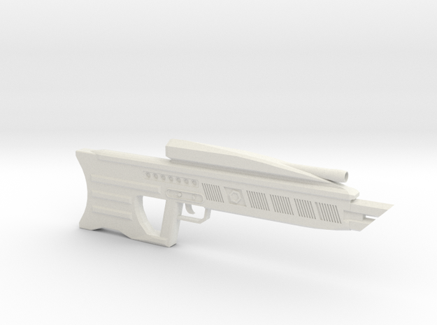 DER-15 Laser Rifle in White Natural Versatile Plastic