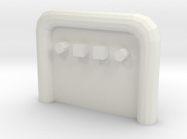 Anschlussplatte Zugmaschine (Variante 1) in White Natural Versatile Plastic