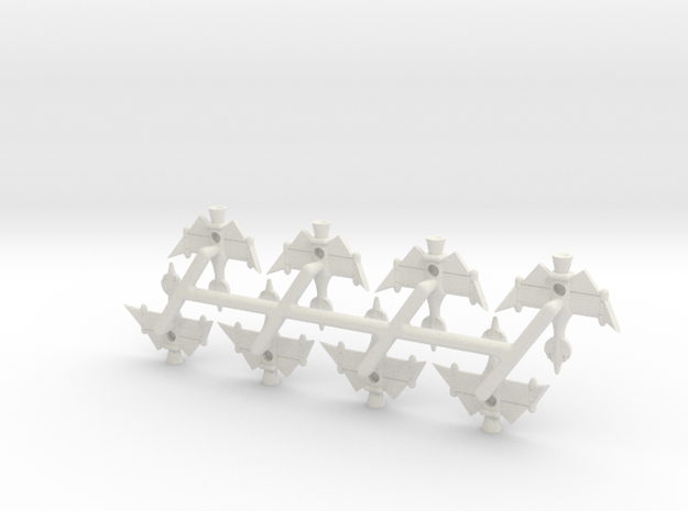Invader Fighter 8 Sprue in White Natural Versatile Plastic