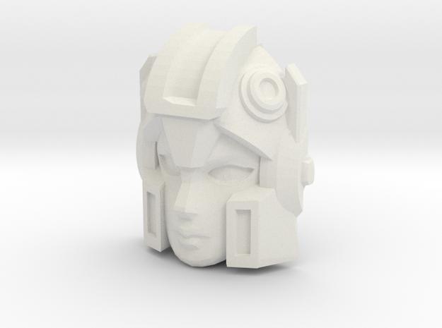 Arcee, WFC Face (Titans Return) in White Natural Versatile Plastic