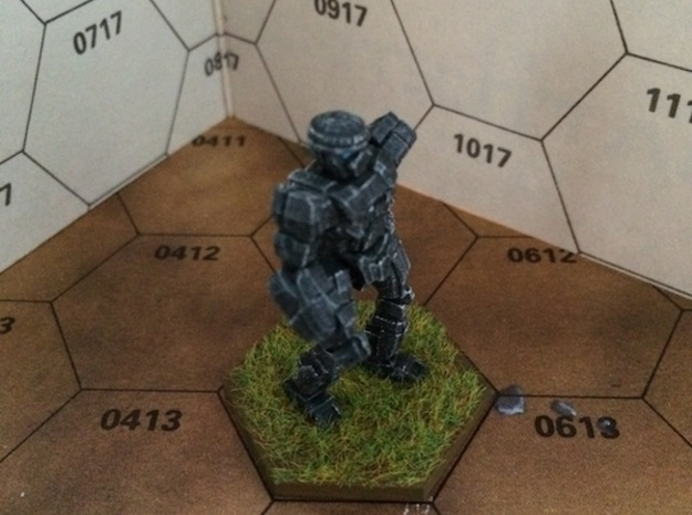 Commando-COM-2D 3d printed Painted model. (The model you can order at shapeways is of course not painted!)
