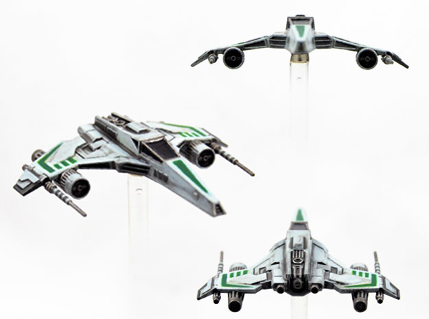 E-Wing Variant - Dual Cannon 3pack in Smoothest Fine Detail Plastic
