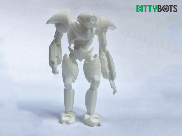 Humanoid BittyBot MK1 in White Strong & Flexible