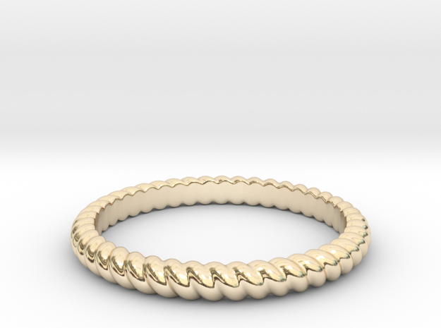 Lasso Rope Ring in 14k Gold Plated: Small