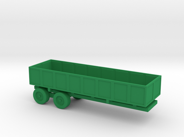 1/110 Scale M-35 Cargo Trailer in Green Processed Versatile Plastic