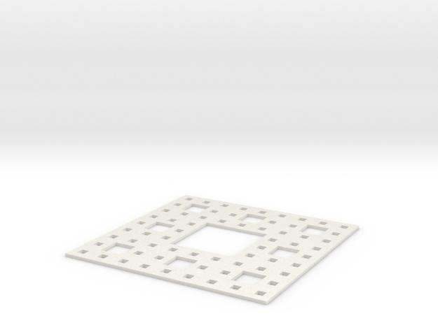 Sierpinski carpet Level 3 in White Strong & Flexible