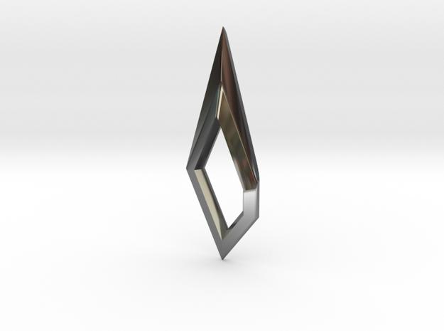 Scalpel Earing 3 in Premium Silver