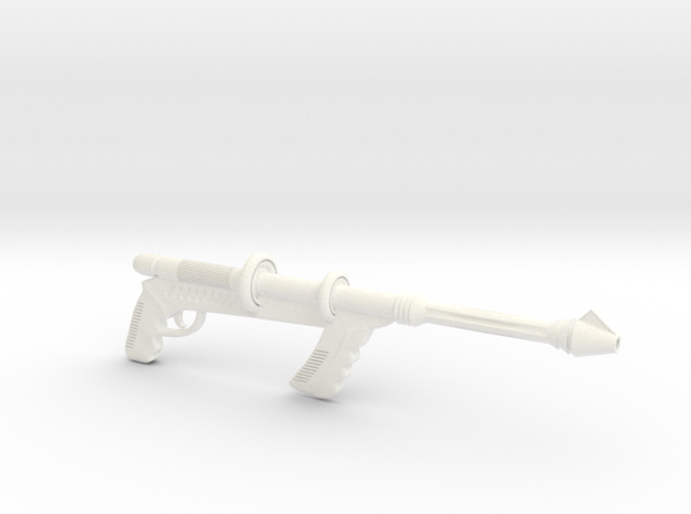 """Space Angel"" - Taurus' Blaster (1:6 Scale) in White Processed Versatile Plastic"