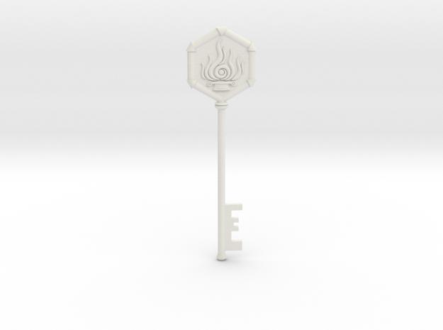 Resident Evil 0: Fire Key in White Natural Versatile Plastic