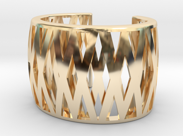 Double-Crossed Cuff in 14k Gold Plated Brass