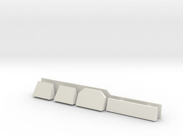 1/96 scale Burke Detail's - Radar Shelves in White Natural Versatile Plastic