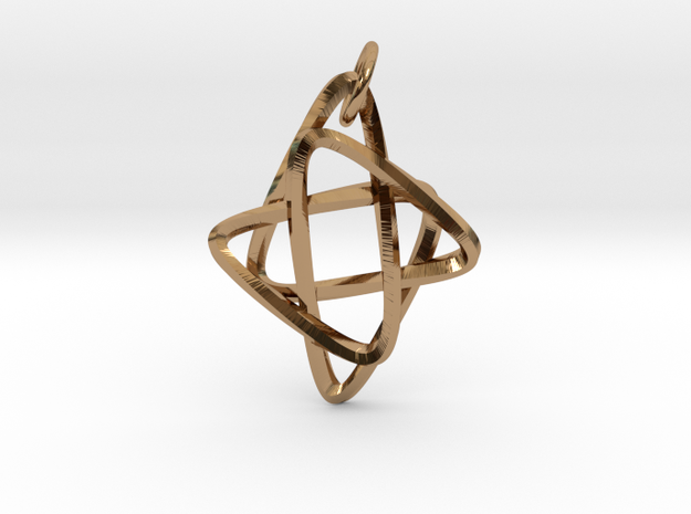 Star of Mobius in Interlocking Polished Brass: Small