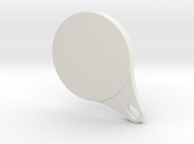 Glyphpendant in White Natural Versatile Plastic