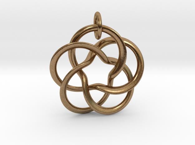 Pentafol starry  in Interlocking Raw Brass