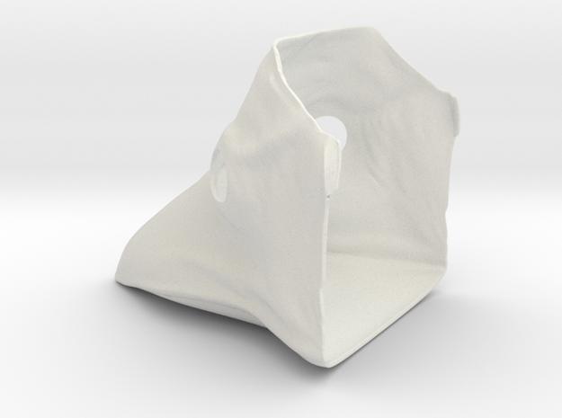 Plauge Mask in White Natural Versatile Plastic
