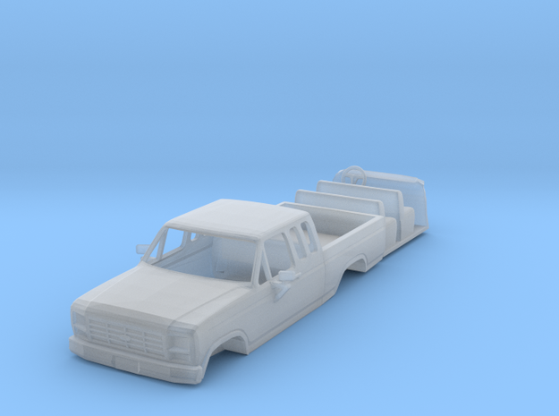 1/87 1980's Ford Super Cab Truck with Interior in Smooth Fine Detail Plastic