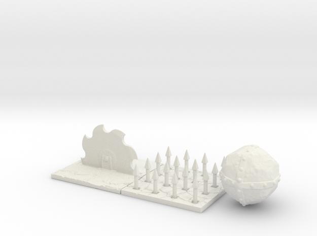 Dungeon trap set in White Natural Versatile Plastic